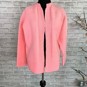 Sweaters - Pink Chunky Knit Open Front Sweater Cardigan